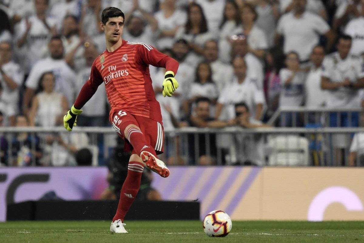 Courtois debutó en la portería del Madrid.