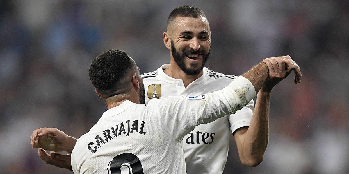 Un inspirado Benzema contribuye con la goleada del Real Madrid