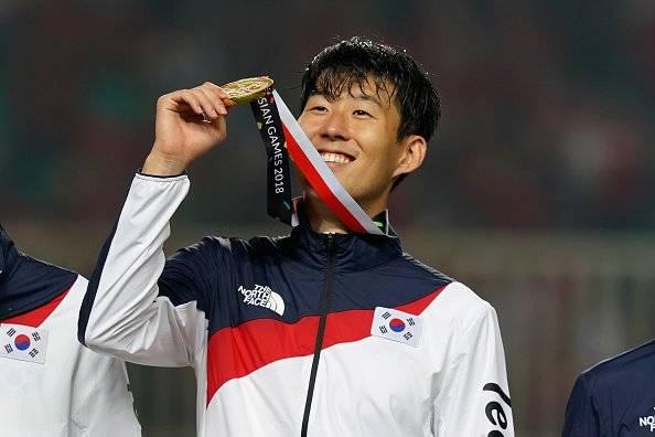 Heung Min Son, estrella del Tottenham logró con drama el oro en los Juegos Asiáticos Getty Images
