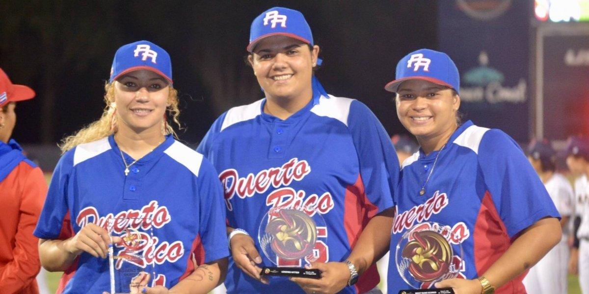 Premian la calidad de tres puertorriqueñas en Mundial de Béisbol