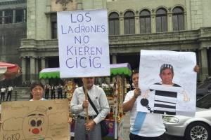 Ciudadanos apoyan el trabajo de la CICIG.