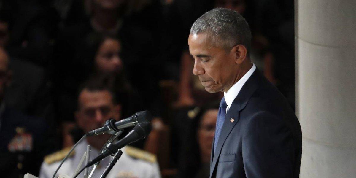 """Pese a tener desacuerdos, McCain y yo """"éramos del mismo equipo"""": Obama"""