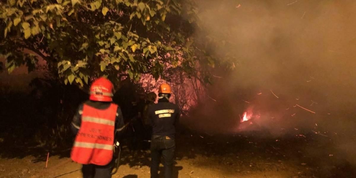 Grave incendio forestal se presenta en el Cristo Rey de Cali