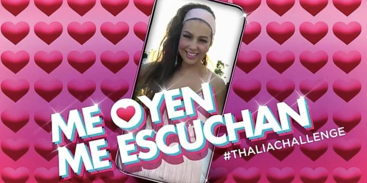 """Critican a Thalía por querer romper un récord Guiness con su canción """"Me Oyen, Me Escuchan"""""""