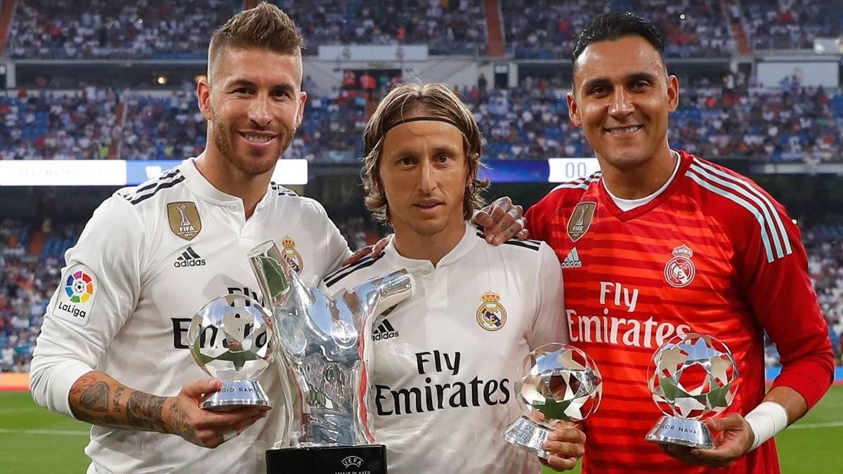 Ramos, Modric y Navas los homenajeados de la noche