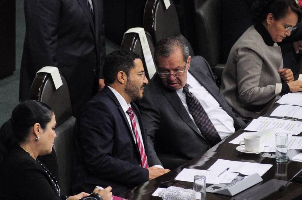 Los presidentes del Senado y de la Cámara de Diputados, Martí Batres y Porfirio Muñoz, respectivamente Foto: Cuartoscuro
