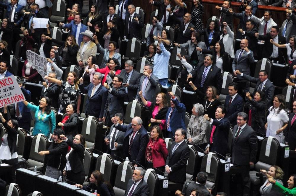 Bancada de Morena en el Congreso de la Unión Foto: Cuartoscuro