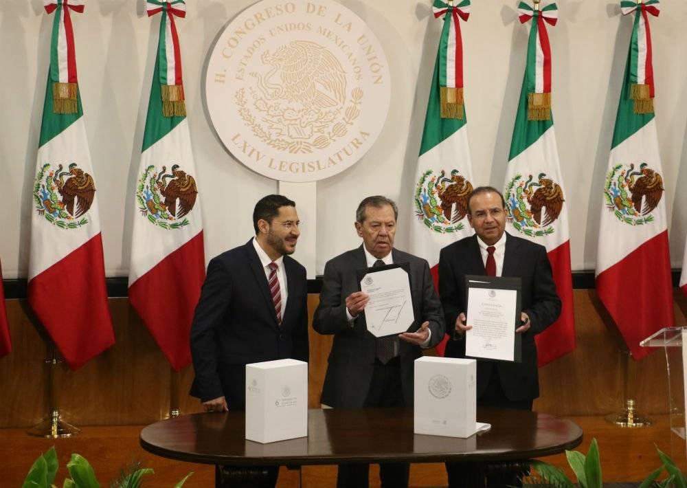 Alfonso Navarrete entregó el Sexto Informe de Gobierno Foto: Cuartoscuro