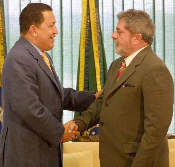 Con Hugo Chávez, presidente de Venezuela Foto: Getty Images