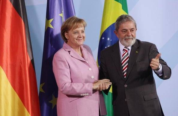 Junto a Angela Merkel, canciller de Alemania Foto: Getty Images