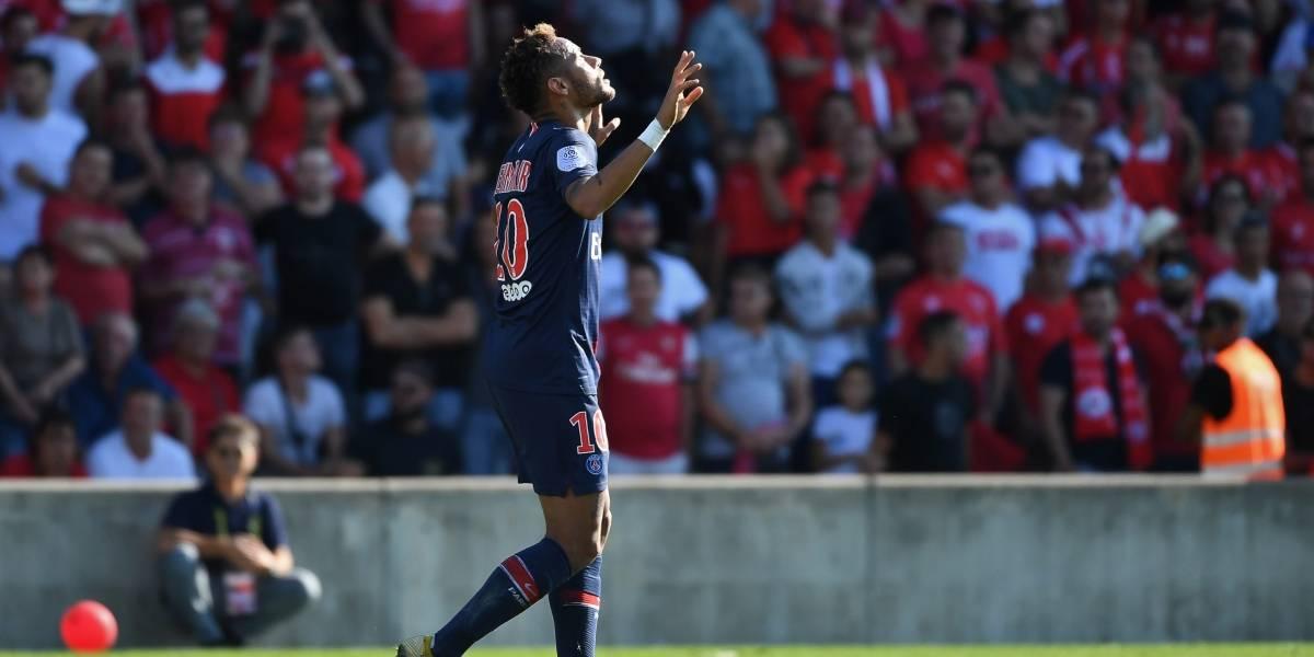 Neymar protagoniza polémico festejo en el triunfo del PSG