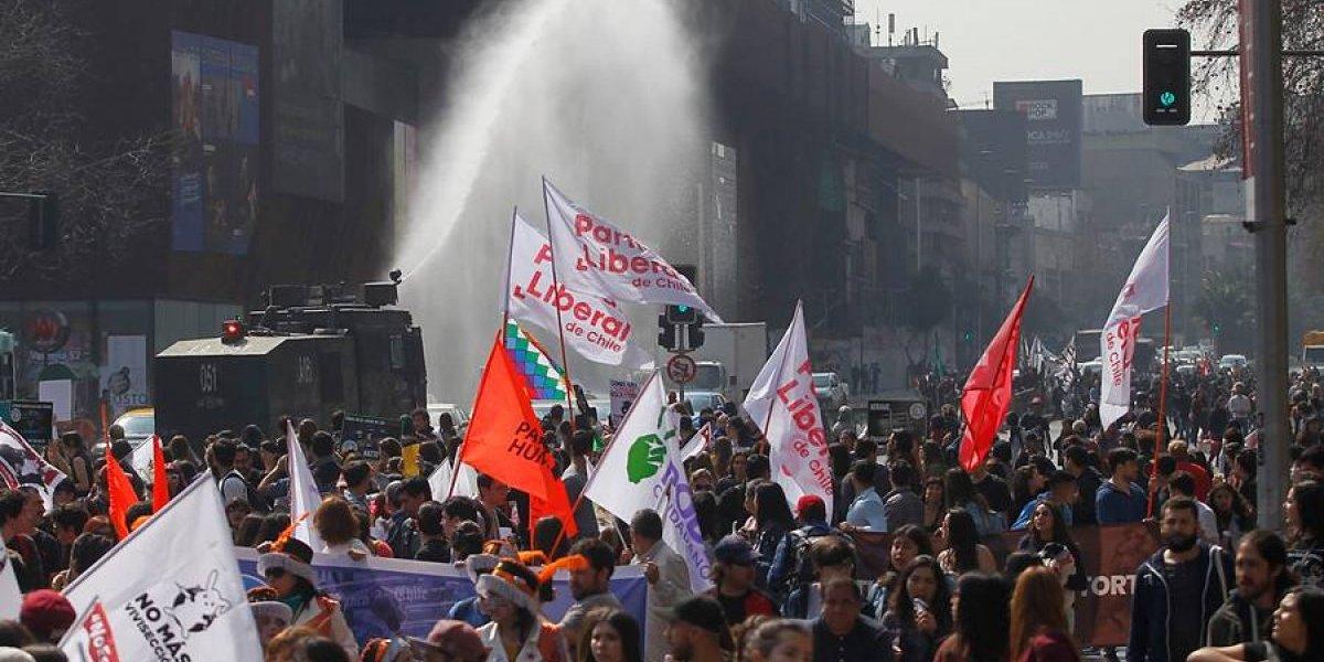 #NoEsDeporte: Con incidentes y detenidos terminó marcha contra el rodeo