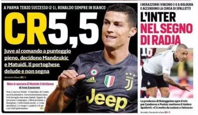 Prensa italiana lo reprueba