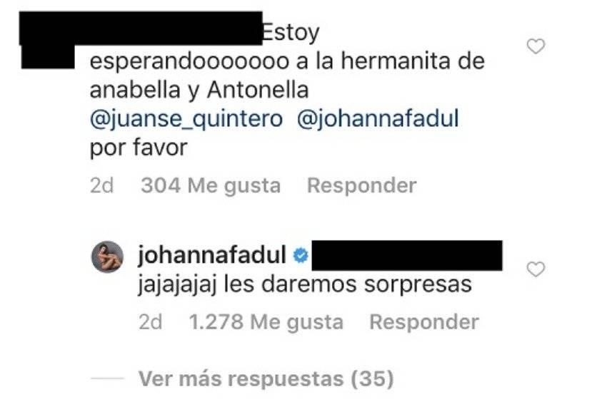 Captura de pantalla Instagram Johanna Fadul