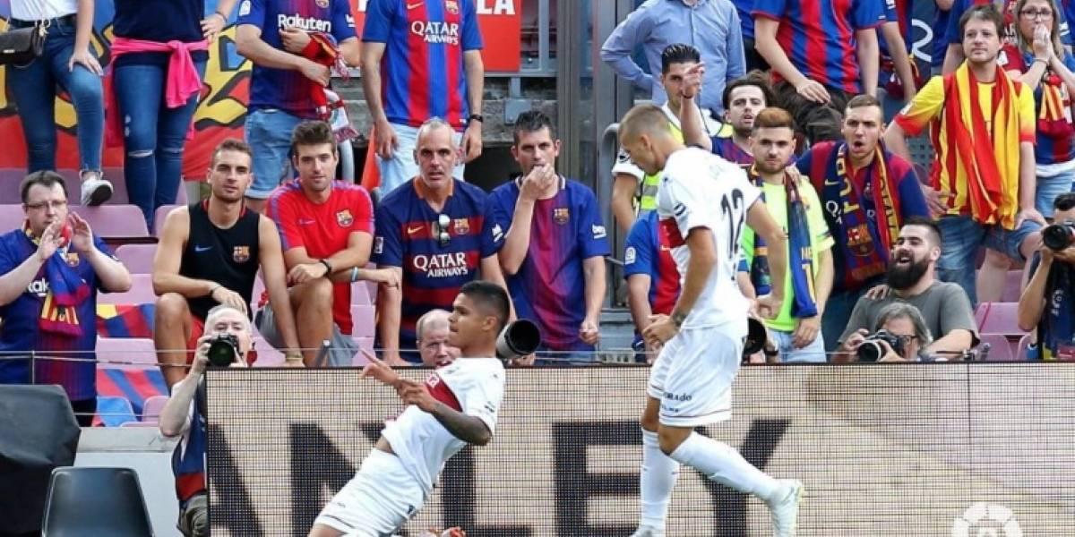 ¡El nuevo Falcao! El Cucho Hernández le hizo gol al Barcelona en Camp Nou