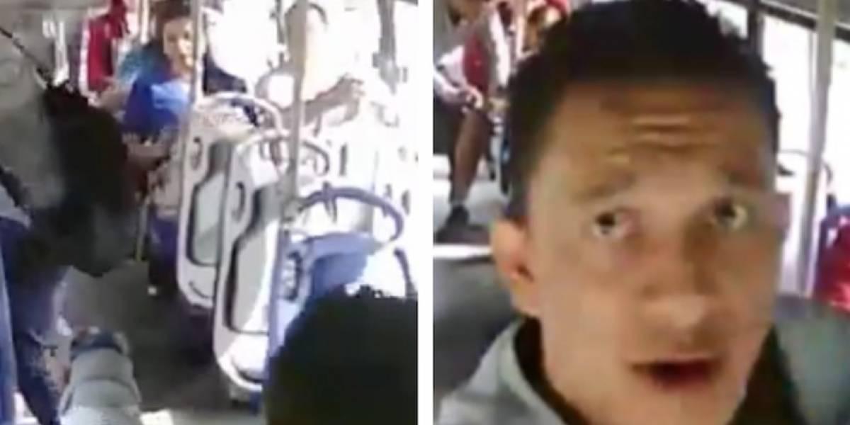 VIDEO: delincuentes ingresan a un bus y roban a los pasajeros