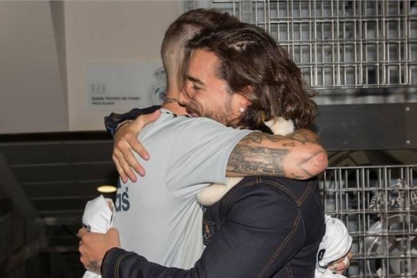Sergio Ramos invitó a Maluma al Santiago Bernabéu