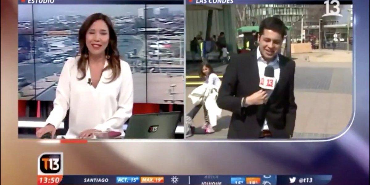 El divertido chascarro que se robó las miradas del noticiero de Canal 13