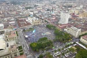 Vista aérea del Parque Central