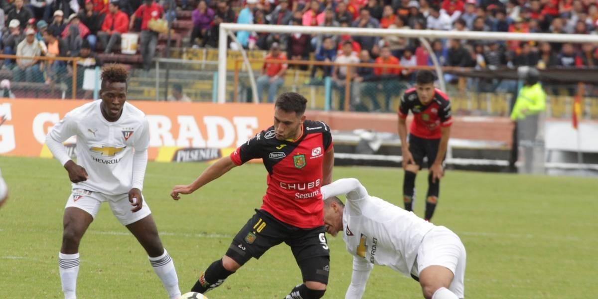 Deportivo Cuenca vs Liga de Quito: Se le escapó el triunfo a los albos en el último minuto
