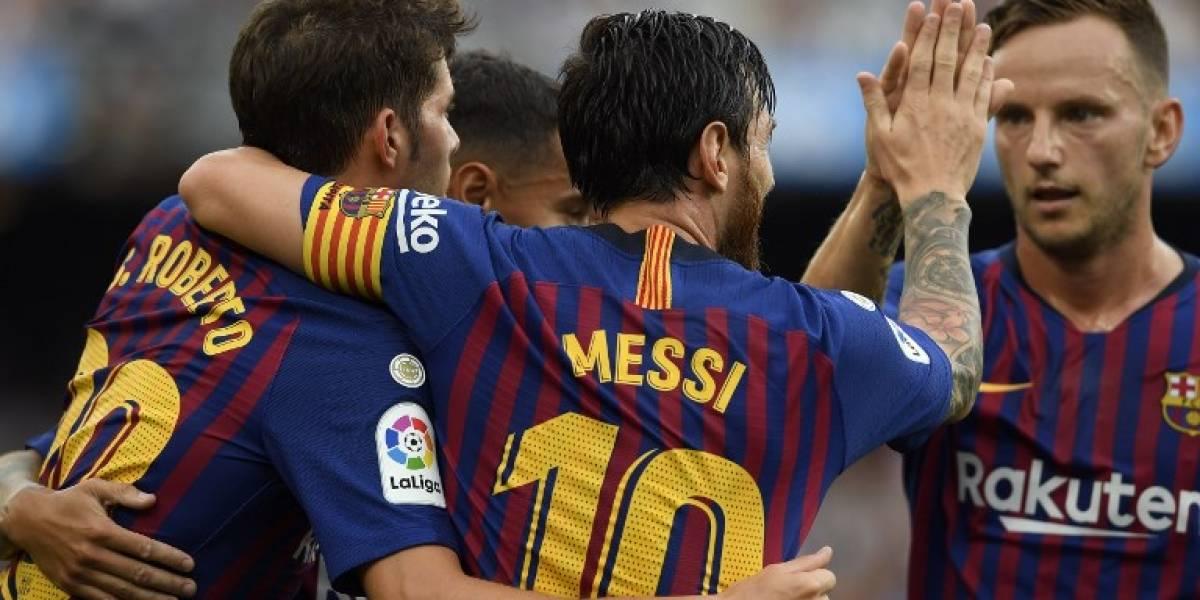 Messi ySuárez le propinan una escandalosa goleada al Huesca