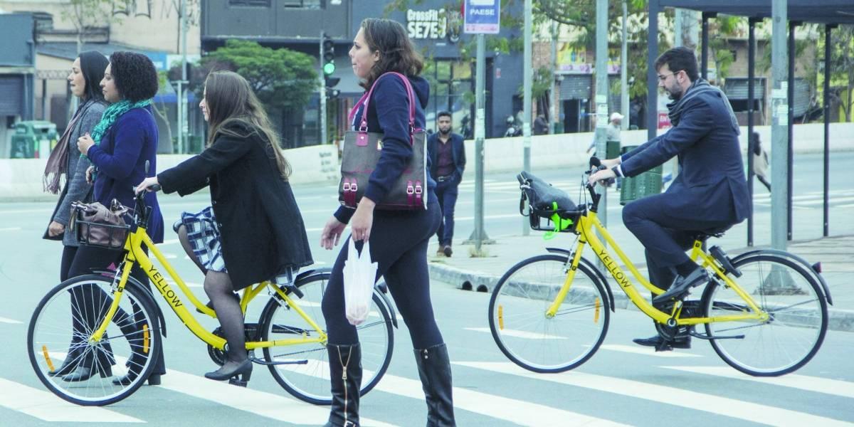 Bicicletas 'amarelinhas' da Yellow completam 1 mês com 100 mil viagens