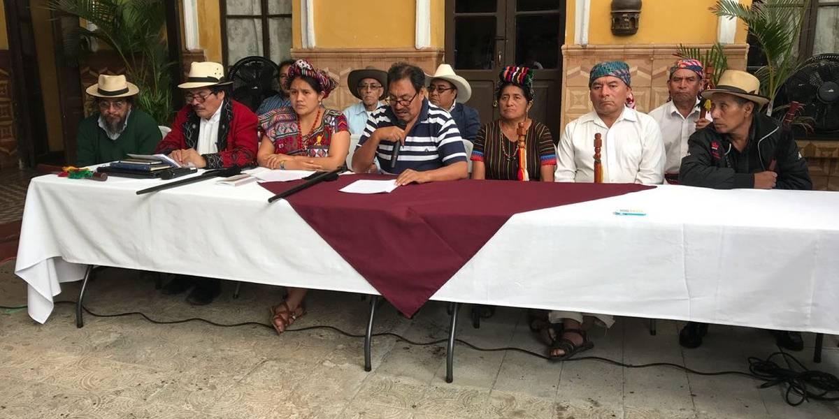 Autoridades indígenas rechazan decisión de Morales sobre CICIG y anuncian movilizaciones