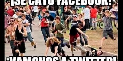 Memes caída Facebook e Instagram