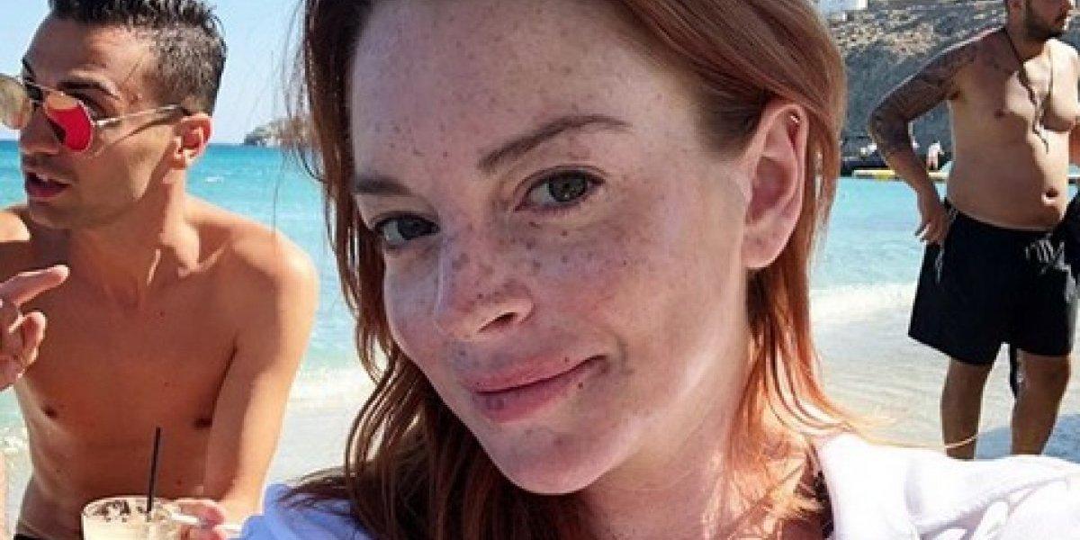 Lindsay Lohan inspira el #mykonoschallenge