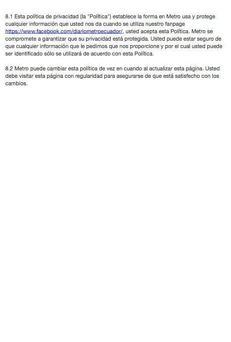 Políticas del Meet and Greet Zoé Diario Metro Ecuador
