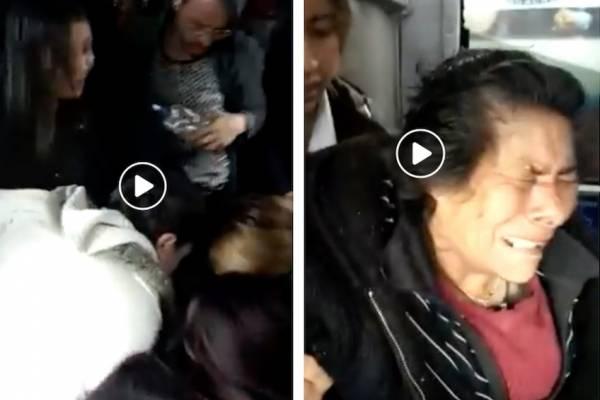 El indignante video en el que se ve que la falta de cultura en TransMilenio