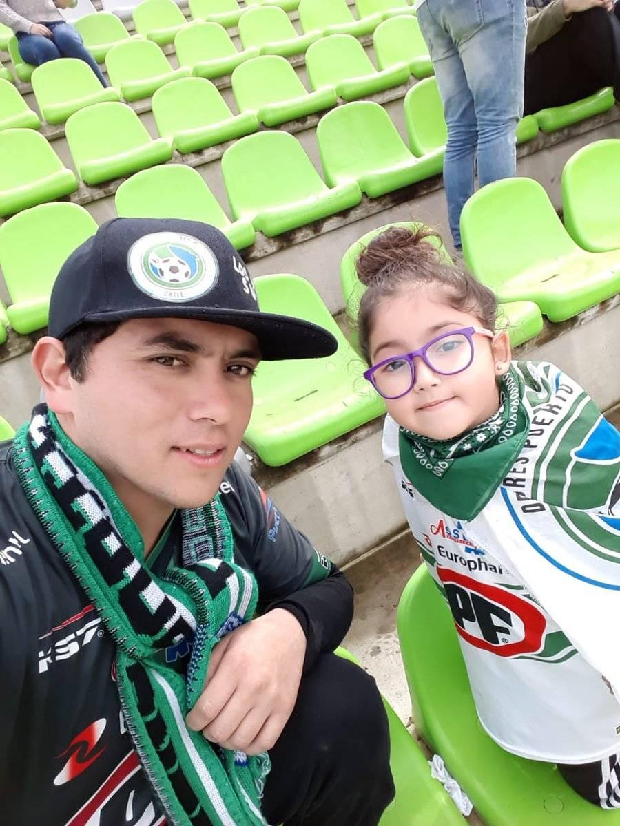 Junto a su hija Javiera, de seis años Twitter @chebisur