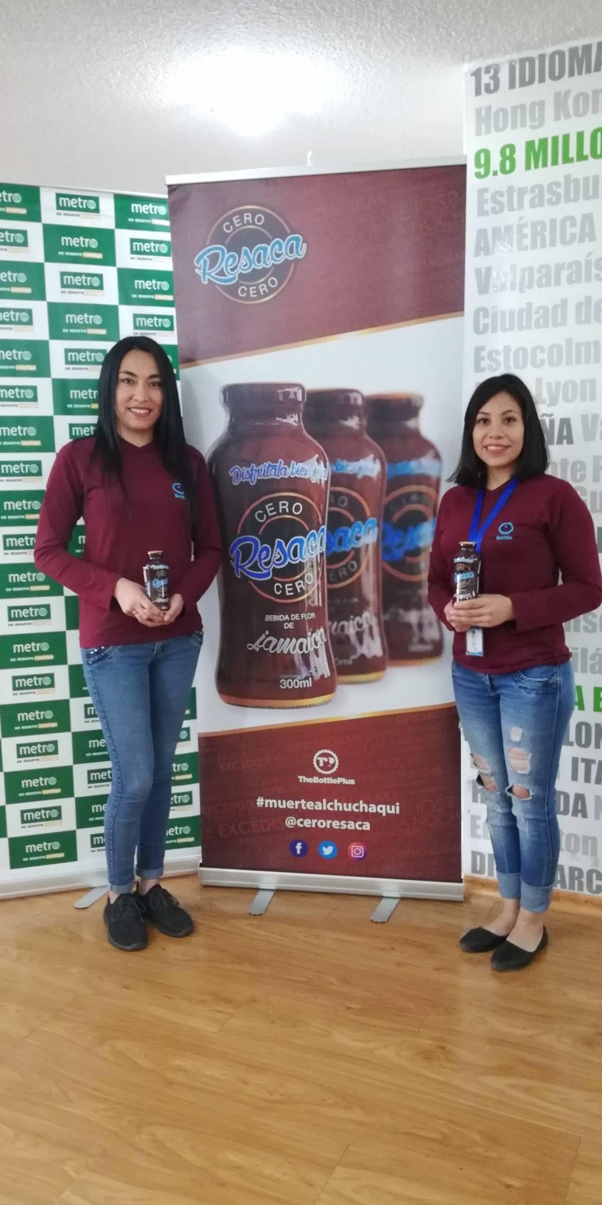 De Izq. a Der.: María José Arteaga; departamento de Compras, Y Alejandra Subía, departamento de Comercial.