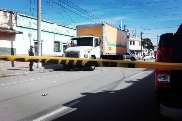 ataque contra camión recolector en zona 3