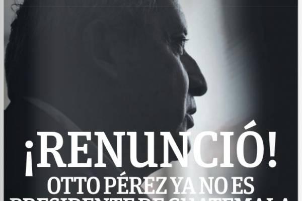 Renuncia Otto Pérez