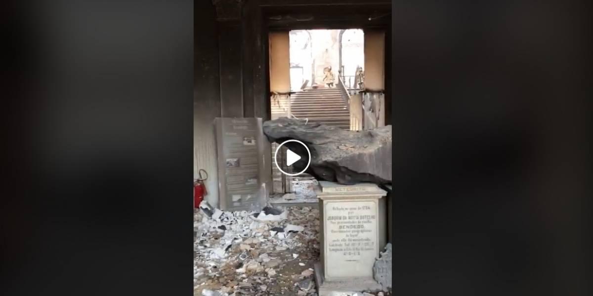 Publican vídeo del Museo Nacional de Brasil luego de ser consumido por las llamas
