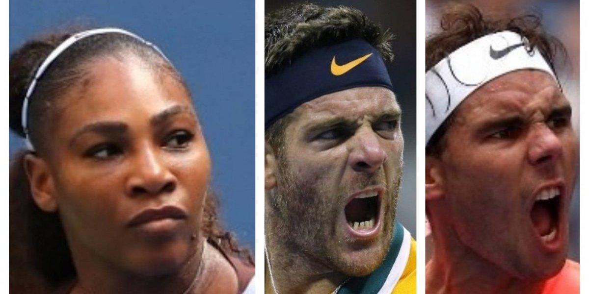 Del Potro, imbatible; Nadal convincente y Serena de vuelta en el US Open