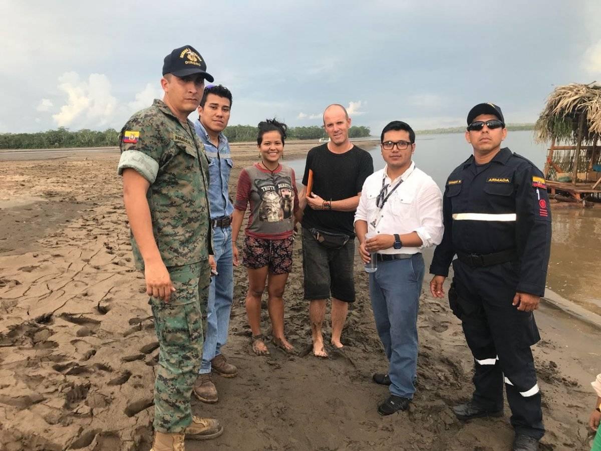 Dos extranjeros fueron rescatados en el río Napo ECU 911