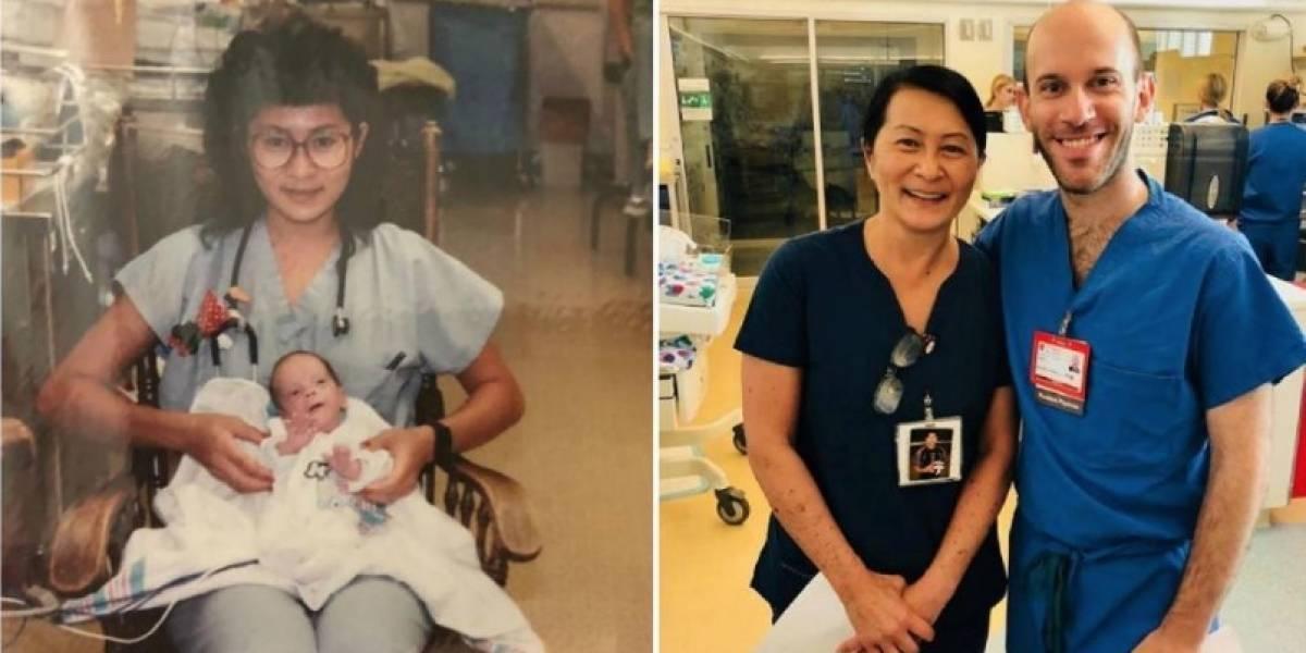 Le salvó la vida cuando nació sin saber que unos años después se reencontrarían