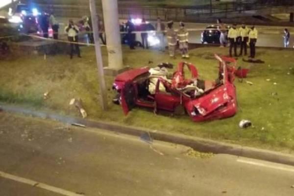 Inédito video de accidente en la Autopista Norte de Bogotá