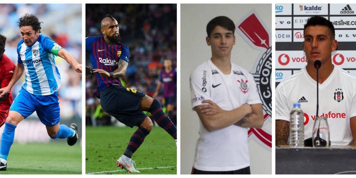 Vidal en Barcelona, Castillo en Benfica y Díaz en Racing: El nuevo mapa de los futbolistas chilenos por el mundo