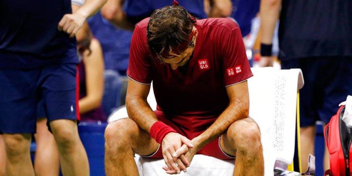 Roger Federer cae tras mal partido en octavos del Abierto de EE. UU.
