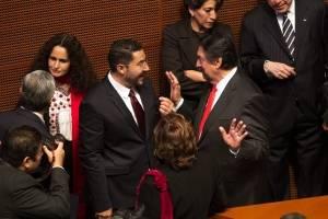 Bancada de Morena en el Senado.