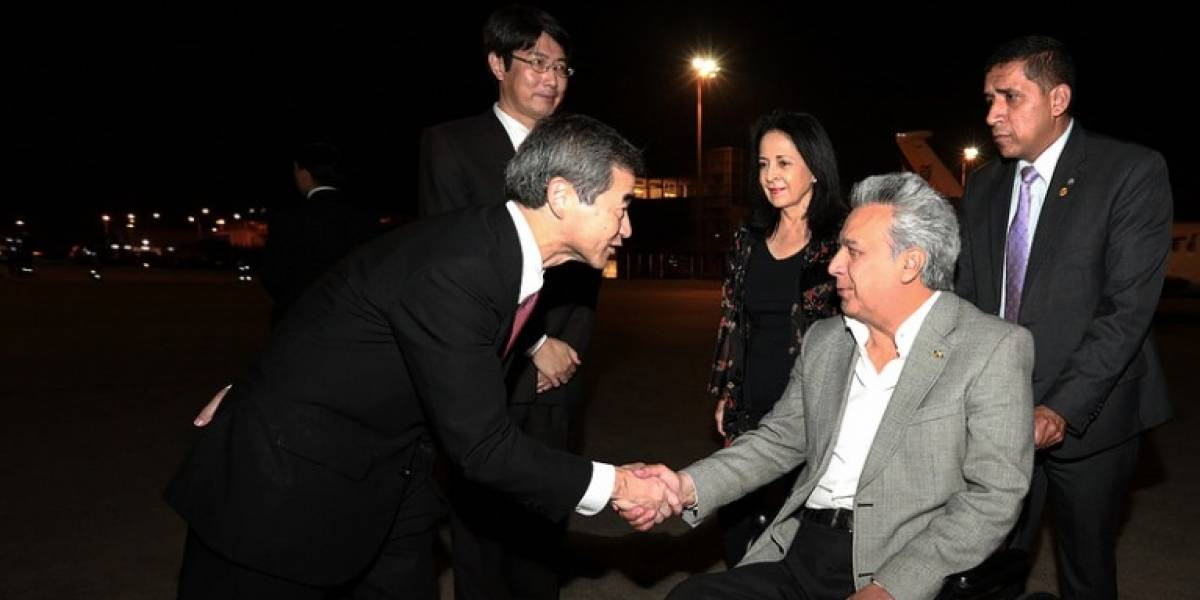 Lenín Moreno llegó a Japón para cumplir con agenda diplomática y de inversión
