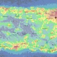 Ilustraciones: Mapas de iluminación hacia el cielo muestran el aumento de contaminación lumínica entre los años 2015 y 2018. (NOAA)
