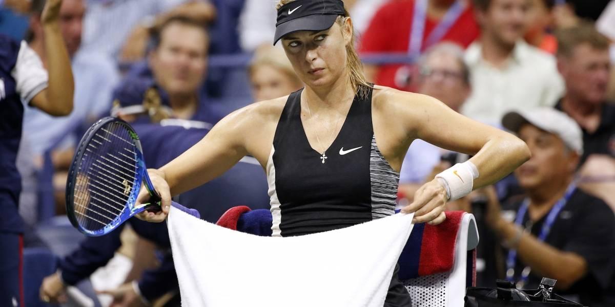 FOTOS: La frustración de Sharapova al quedar eliminada del US Open