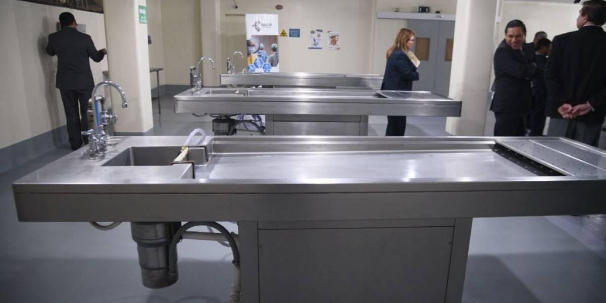EN IMÁGENES. Remodelación en sala de Tanatología agilizará necropsias en el Inacif