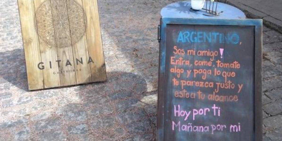 """""""Argentino, ¡sos mi amigo!"""": restaurant uruguayo se cuadra con los transandinos y les propone pagar """"lo que esté a su alcance"""""""