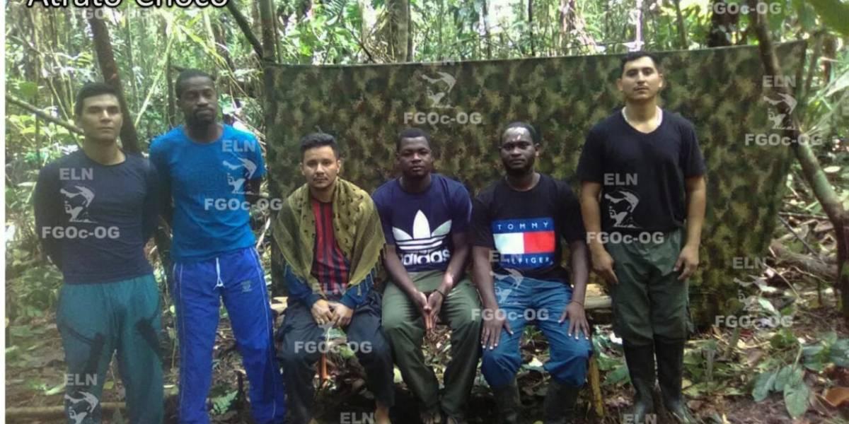 ¡Liberados! El Eln liberó a los seis secuestrados en Chocó