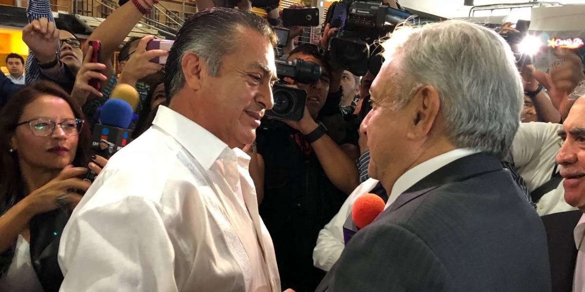 'El Bronco' recibe a López Obrador en Monterrey